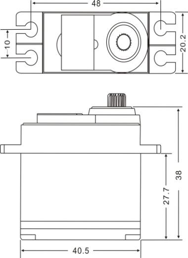 JX Servo PDI-5521MG-360° 55 6g Continuous rotation High Precision
